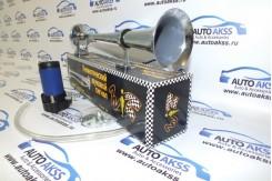 Сигнал воздушный однорожковый со встроенным мотором