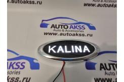 Светодиодный шильдик с белой / красной надписью KALINA / KALINA 2