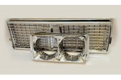 Решетка радиатора с очками ваз 2106 хром