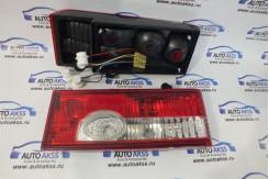 Задние фонари  красные с белой полосой на ВАЗ 2108-21099, 2113, 2114