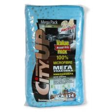 Набор салфеток микрофибра CA-124  (24 шт в упак. ) 35*40 см.
