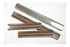 Накладки на пороги ВАЗ 2110.из нержавеющей стали (комп 4шт.)