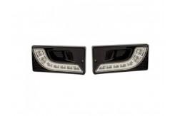 Светодиодные дневные ходовые огни (в ПТФ для ВАЗ 2110-2115 черный