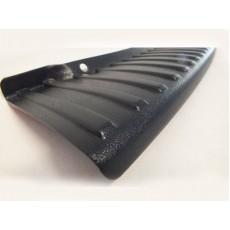 Накладка-порожек заднего бампера RENAULT DUSTER черная ТюнАвто