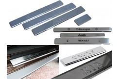 Накладки на пороги MAZDA 3 2013, 6 2013. из нержавеющей стали (комп 4шт.)